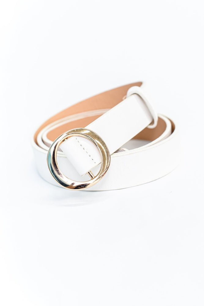 White/Gold Extended Belt - BLT1118WH