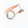 White/Gold Regular Belt - BLT1117WH