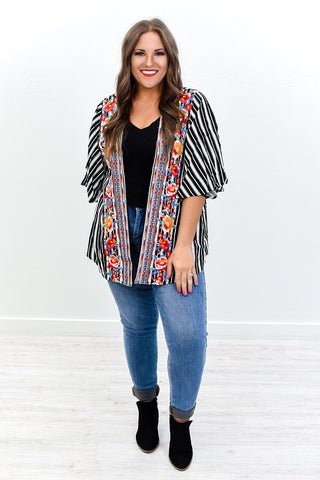 You're All I See Indigo Open Shoulder Top - B342IN-Tee for the Soul