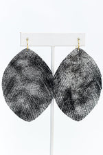 Silver Metallic Fringe Earrings - EAR3057SI