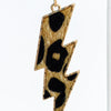 Leopard/Gold Lightning Bolt Earrings - EAR3064LE