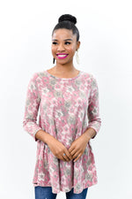 Meet Me In Paradise Dark Pink Floral Top - B9963DPK