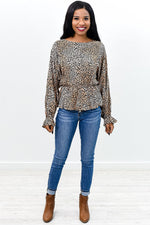 Stop Kitten Around Leopard Top - B9356LE