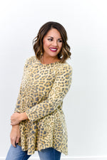 Spending Time With Friends Beige Leopard Top - B10025BG