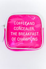 Coffee And Concealer Hot Pink Clear Makeup Bag - MUB934HPK