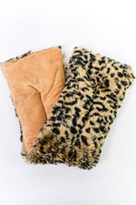 Leopard Fuzzy Microwavable Neck Wrap - BTY049LE