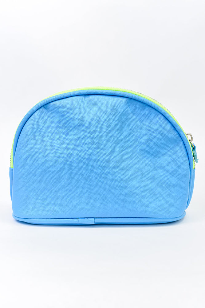 Neon Sky Blue/Neon Green Makeup Bag - MUB940NSB