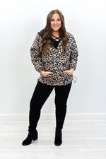 Spring Showers Leopard Hooded Pull Over - O2998LE