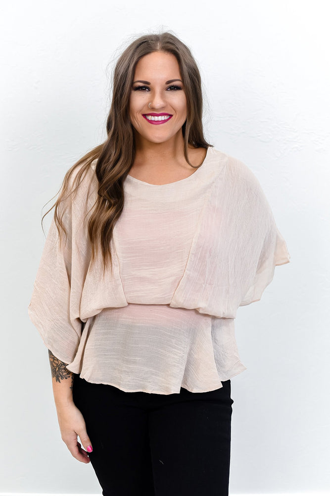 Sway My Way Latte Top - B10542LT
