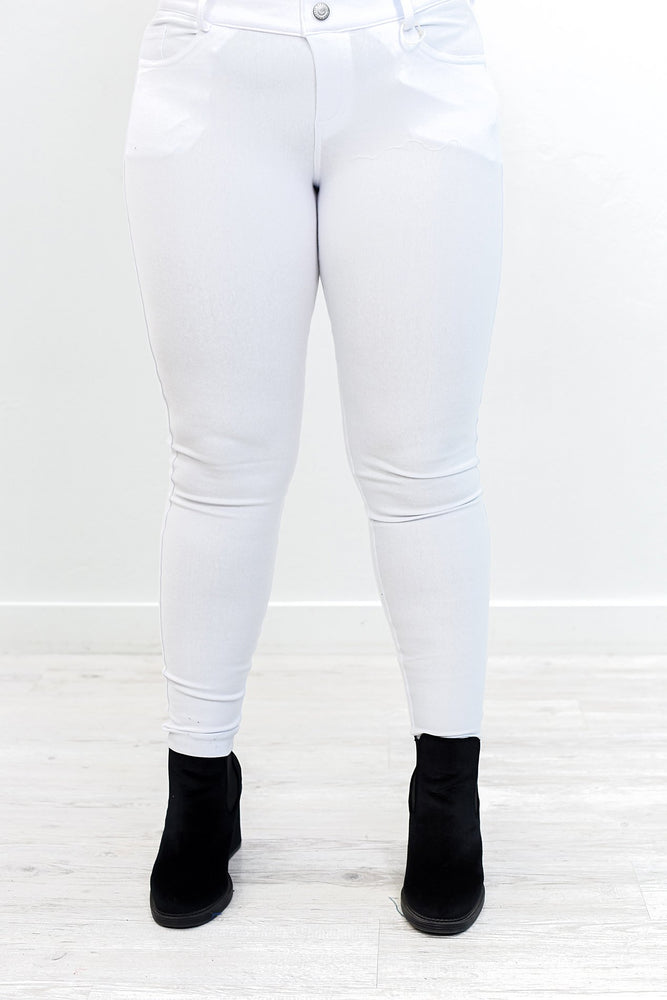 Better This Way White Jeggings - JEG564WH