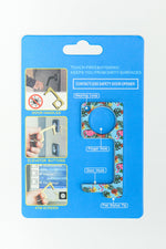 Mint Floral/Flamingo Contactless Keychain - KEY1102MT