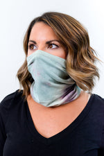 Mint/Purple Tie Dye Gaiter Face Mask - FM105MT