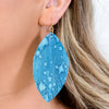 Teal Tie Dye Feather Earrings - EAR3260TE