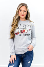 Rebel Without A Cause Gray Graphic Tee - A849GR