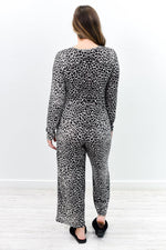 She Can't Be Tamed Gray Leopard Romper - RMP420GR