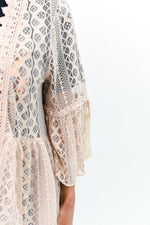Easy On The Eyes Taupe Sheer High-Low Long Kimono - O2744TA