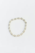White/Pearl Bling Crystal Stretch Bracelet - BRC2946WH