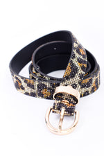 Leopard/Gold Bling Belt - BLT1059LE