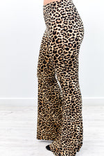 Just Another Day Leopard Bell Bottom Pants - PNT1153LE