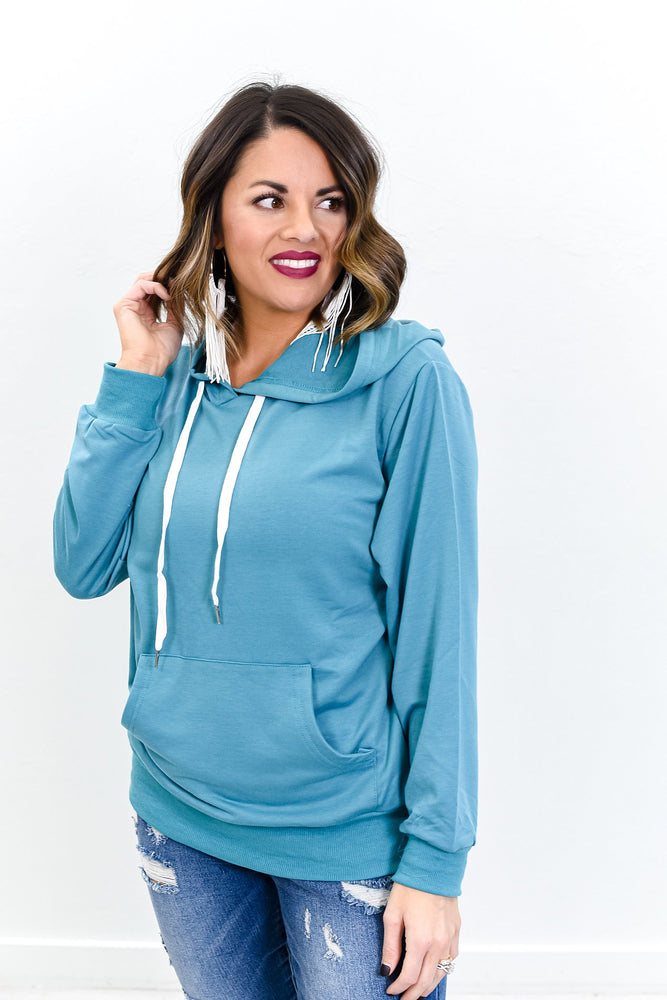Just Like Me Teal Hooded Top - B10692TE