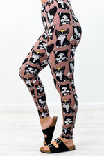 Mauve Dog Printed Leggings (Sizes 4-12) - LEG2679MV