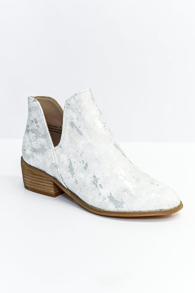 Change The Tempo White Printed Booties - SHO1859WH