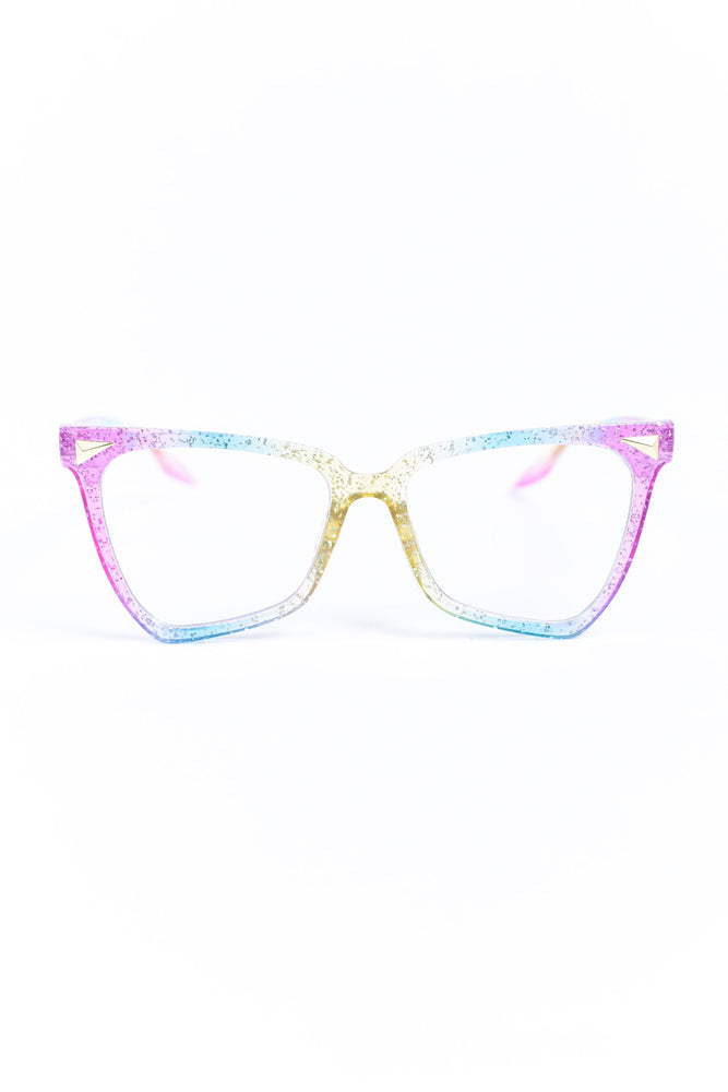 Rainbow Glitter Blue Light Glasses - BLG001RW