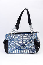 Along For The Ride Black/Denim Bling Bag - BAG1473BK