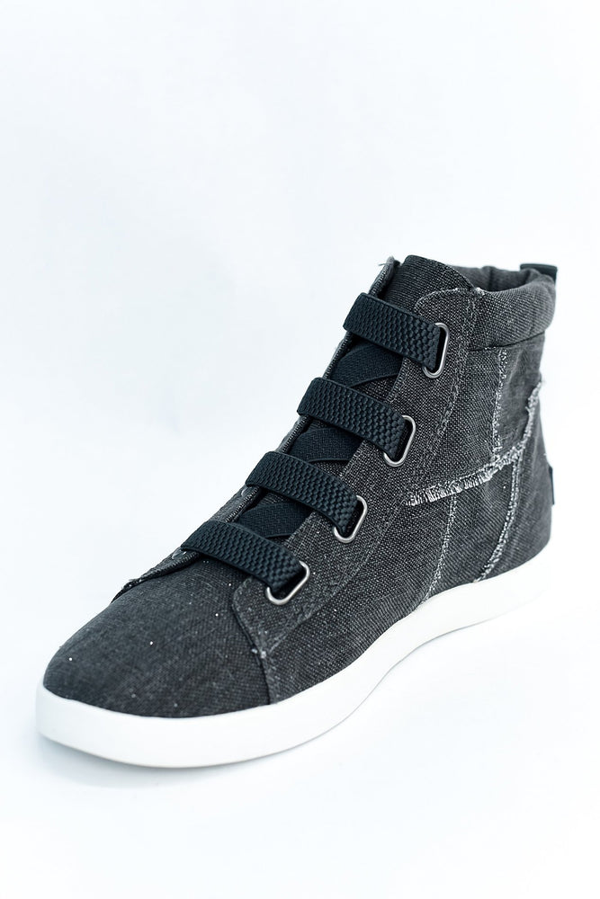Easy Street Charcoal Gray Slip On Sneakers - SHO1923CG