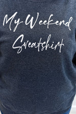 My Weekend Sweatshirt Heather Black Graphic Sweatshirt - A874HBK
