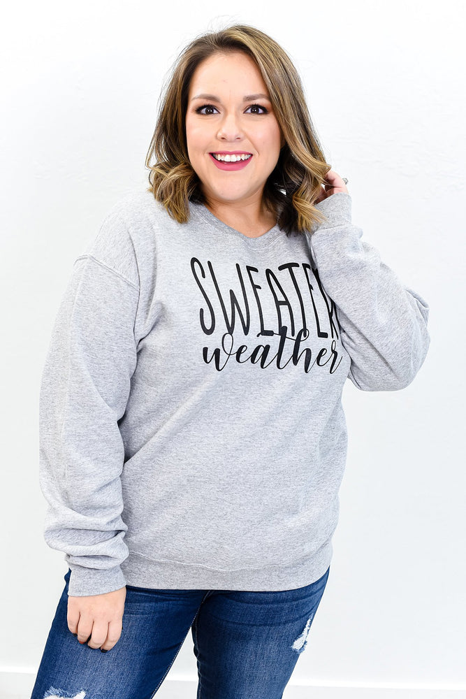 Sweater Weather Athletic Heather Gray Graphic Sweatshirt  - A875AHG