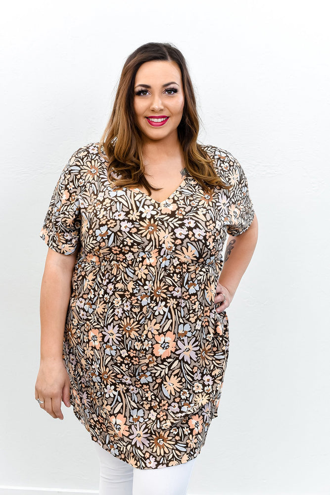 Handling Business Heather Ivory/Red Leopard Sequins Top B9662HIV