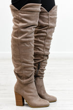 Making My Way Home Taupe Over The Knee Boots - SHO1897TA