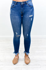 An Angel In Blue Jeans Medium Denim Distressed Jeans - K607DN