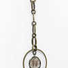 Bronze/Crystal Oval Pedant Necklace - NEK3507BZ