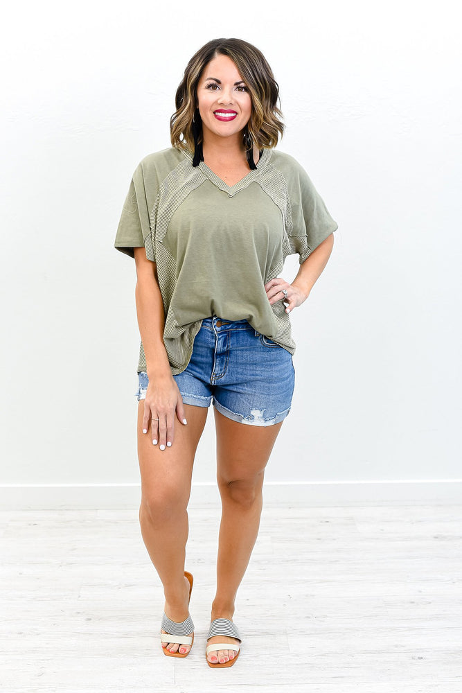 Denim Dreams Medium Denim Distressed Shorts - I1285DN