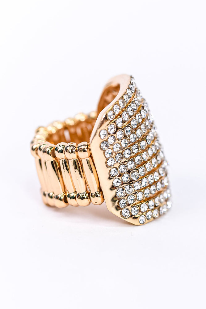 Gold Bling Stretch Ring - RNG1086GO