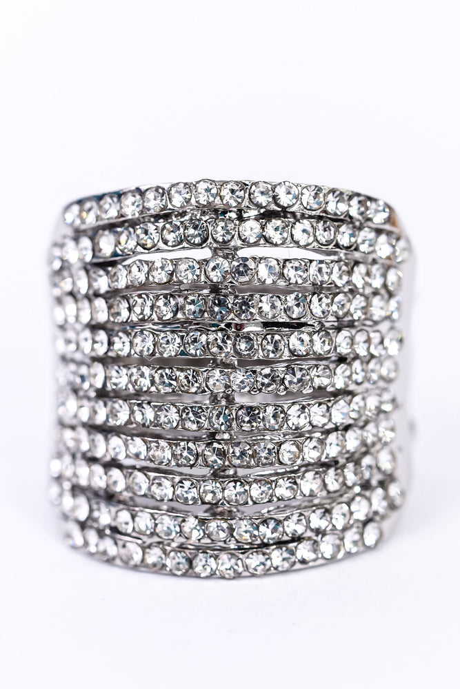 Silver Bling Stretch Ring - RNG1088SI