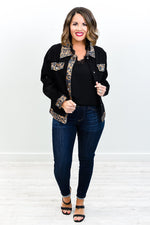 Dreamy And Divine Black/Brown Leopard Jacket - O3167BK