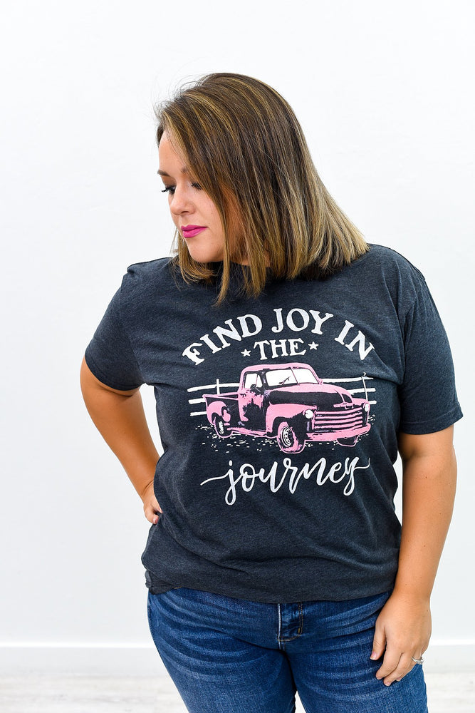 Find The Joy Charcoal Gray Graphic Tee - A797CG