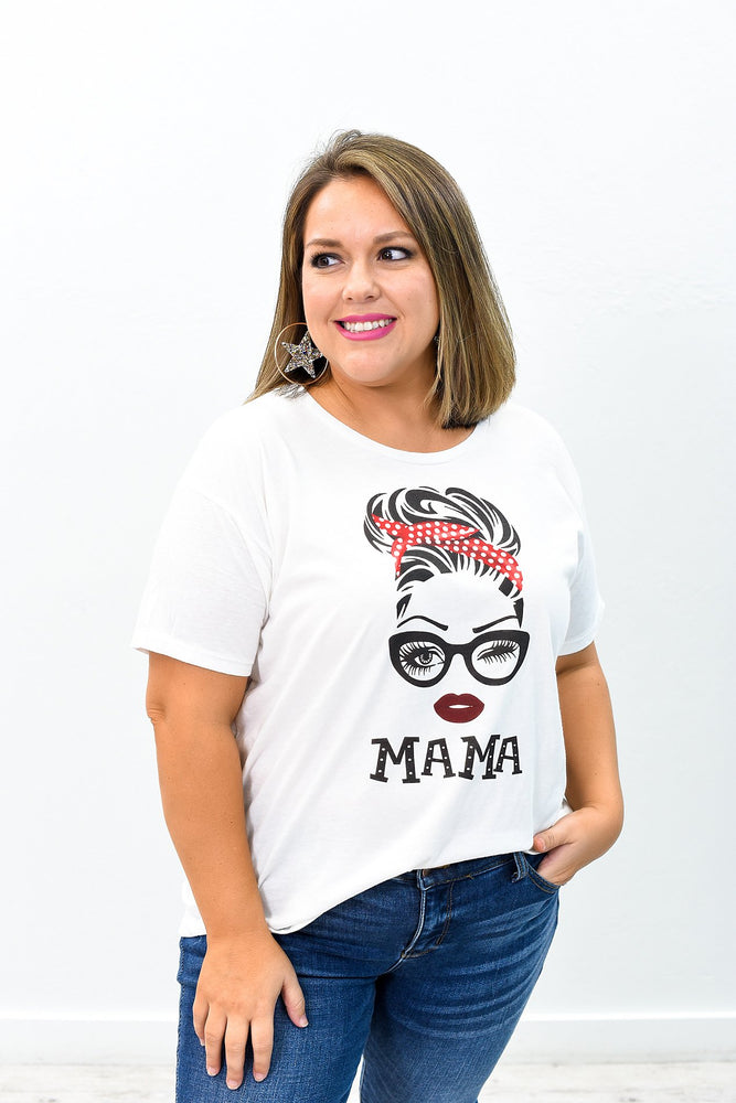 Mama White Graphic Tee - A787WH