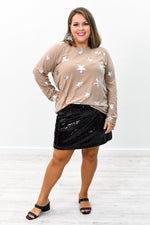 See You At The Disco Black Sequins Skirt - E1059BK