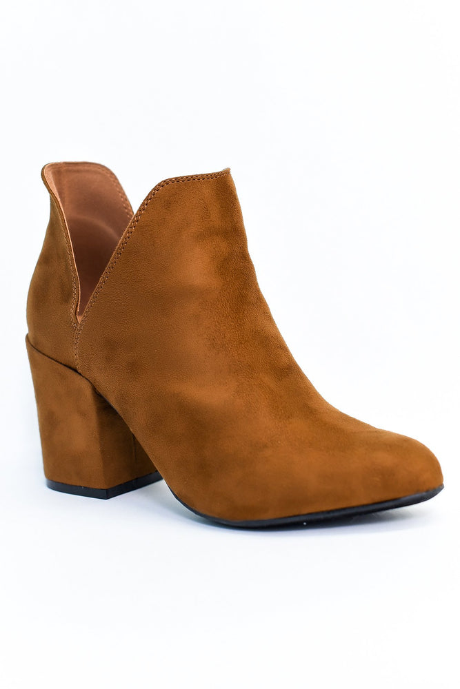 Chic Situations Tobacco Suede Booties - SHO1870TB