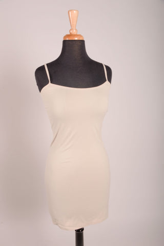 Oyster Cami Slip Dress (Sizes 12-18) - SLP004OY