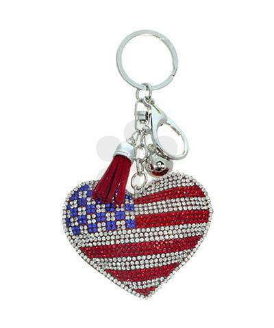 America Bling Keychain - KEY1008AM