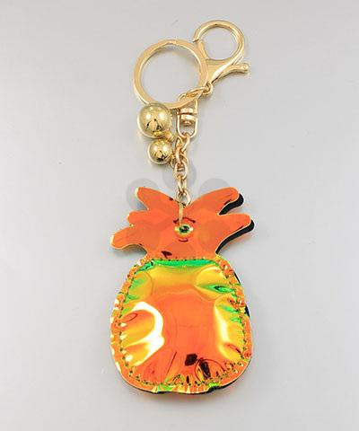Gold Reflective Pineapple Keychain - KEY1010GO