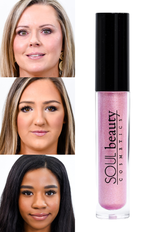 'Luxe' Pink Shimmer Gloss - LG23PK