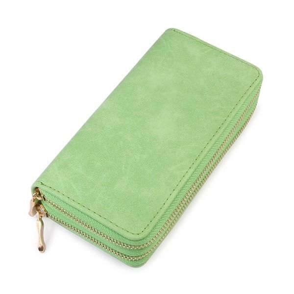 Green Double Zip Wallet - WAL028GN