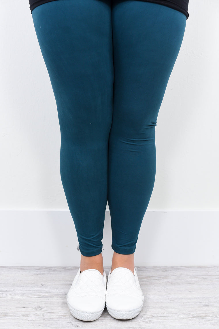 Dark Teal Solid Leggings (Sizes 20-26) - LEG1409TE