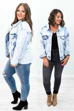 Forever Perfect Light Denim Acid Wash Jean Jacket - O2592DN